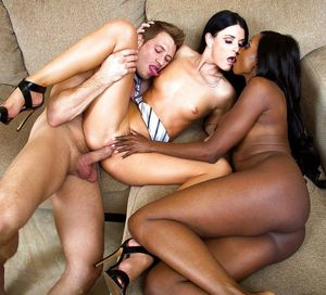 ebony ffm threesome