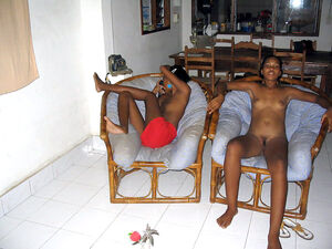 Perky ebony girlfriends, fully nude, you must check their hairy cunts