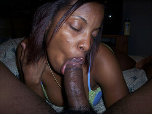 sexy black girl blowjob