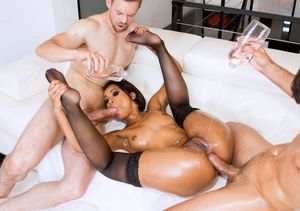 rough ebony gangbang