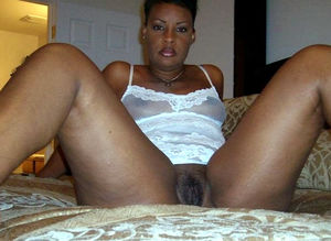 ebony in white panties